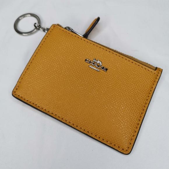 Coach Mini Skinny ID Case keyring coin purse